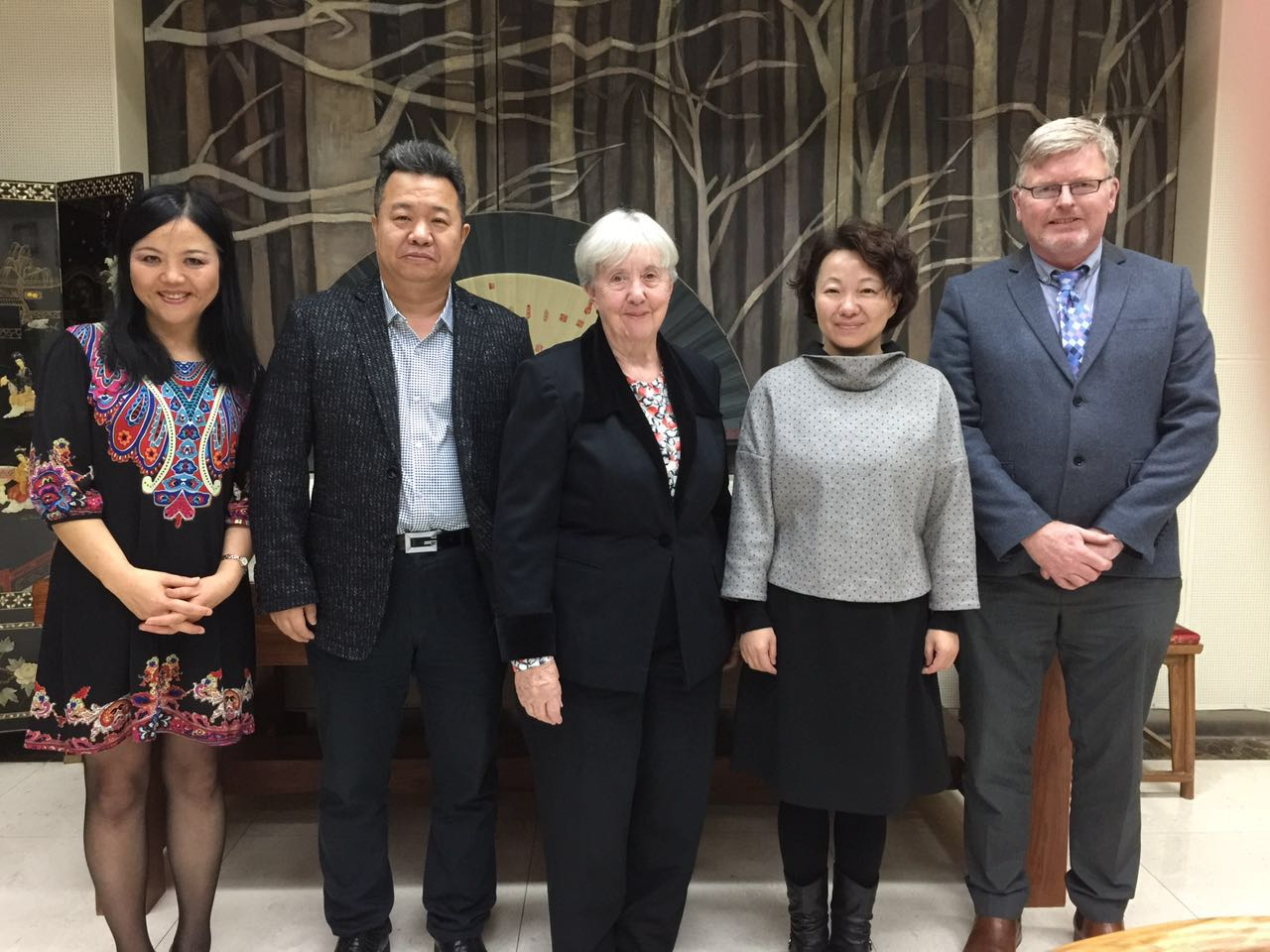 Five people who attended CALF program in Beijing