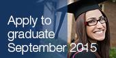 SSAF deadline has Apply to graduate September 2015