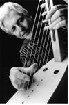 Michael Atherton playing ancient greek harp