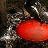 An Australian Rules Football ball