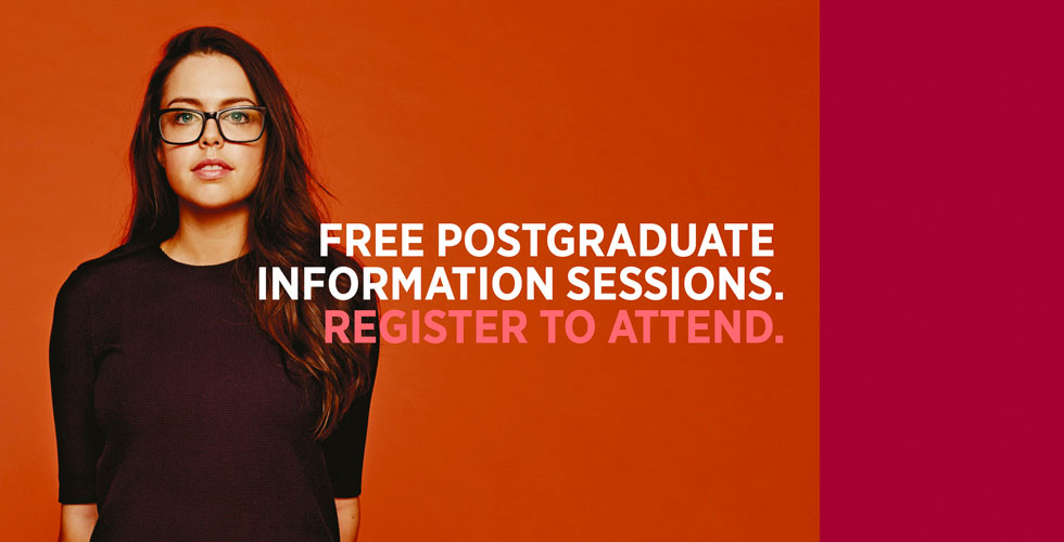 Register for postgraduate information sessions