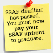 SSAF deadline has passed, You must now pay upfront to graduate