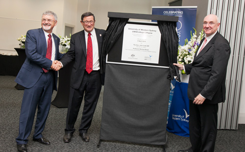 UWS College Lithgow plaque unveiled