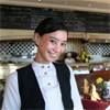Asian woman working in hospitality