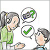 Thumbnail illustration of a woman talking to her son about sharing photo online.