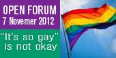 Homophobia Open Forum