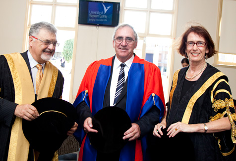 Professor Peter Shergold, The Honourable John Fahey AC and Professor Janice Reid