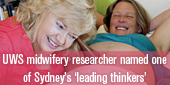 Midwifery researcher named one of Sydney's 'leading thinkers