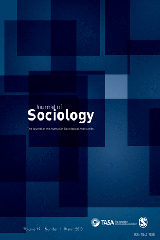 Cover of the Journal of Sociology