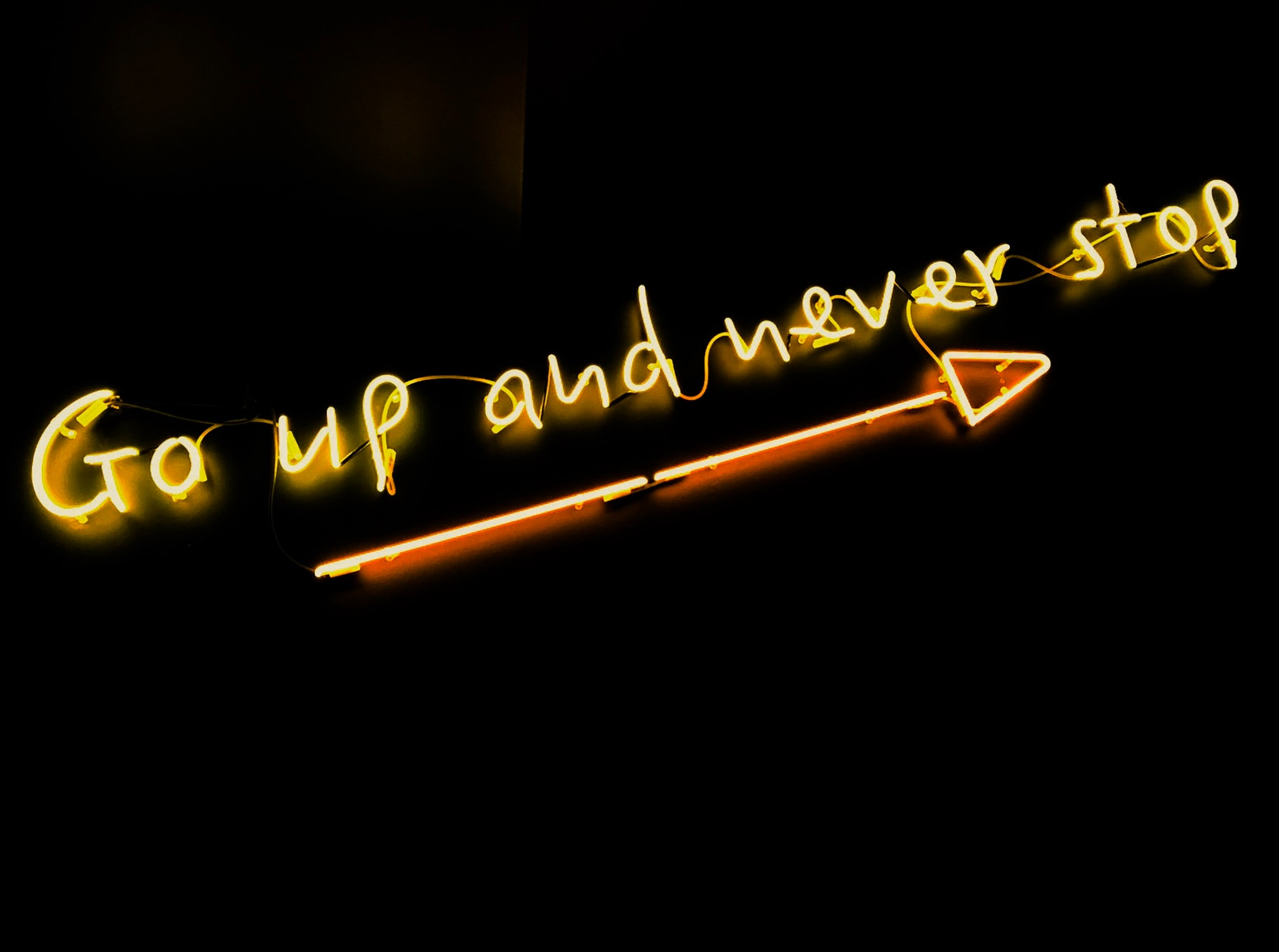 Go up and never stop sign