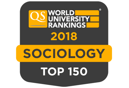 Top 100 in the world for Sociology