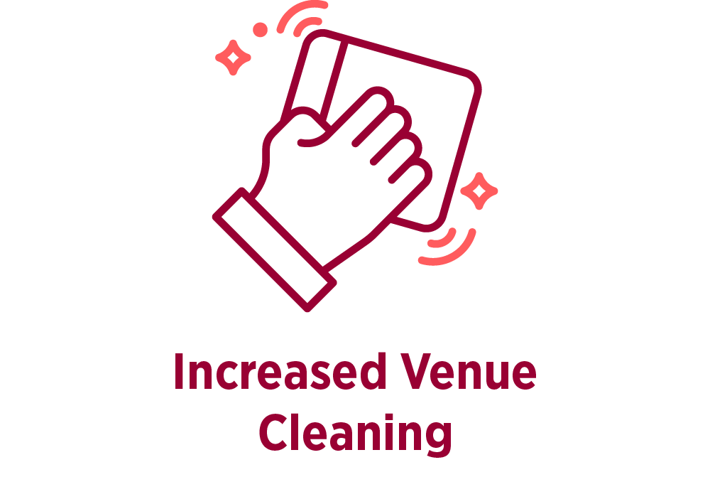 Increased venue cleaning for mid-year information day
