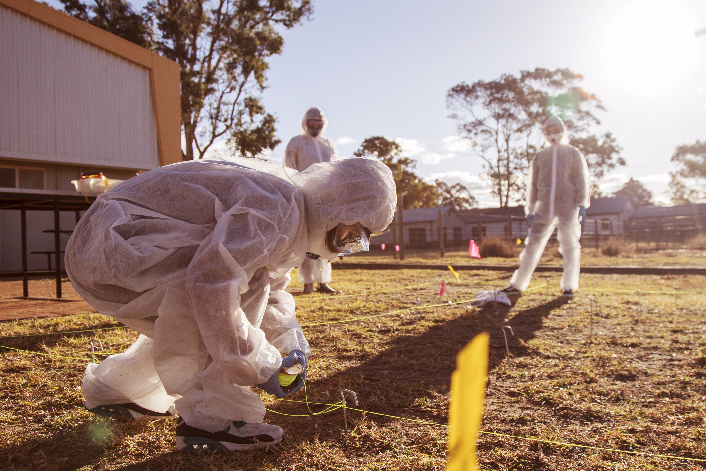 Forensic students on Hawkesbury Campus