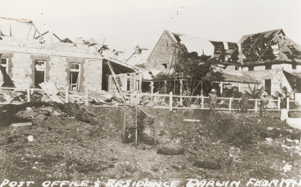 The Darwin Post Office after the bombing.