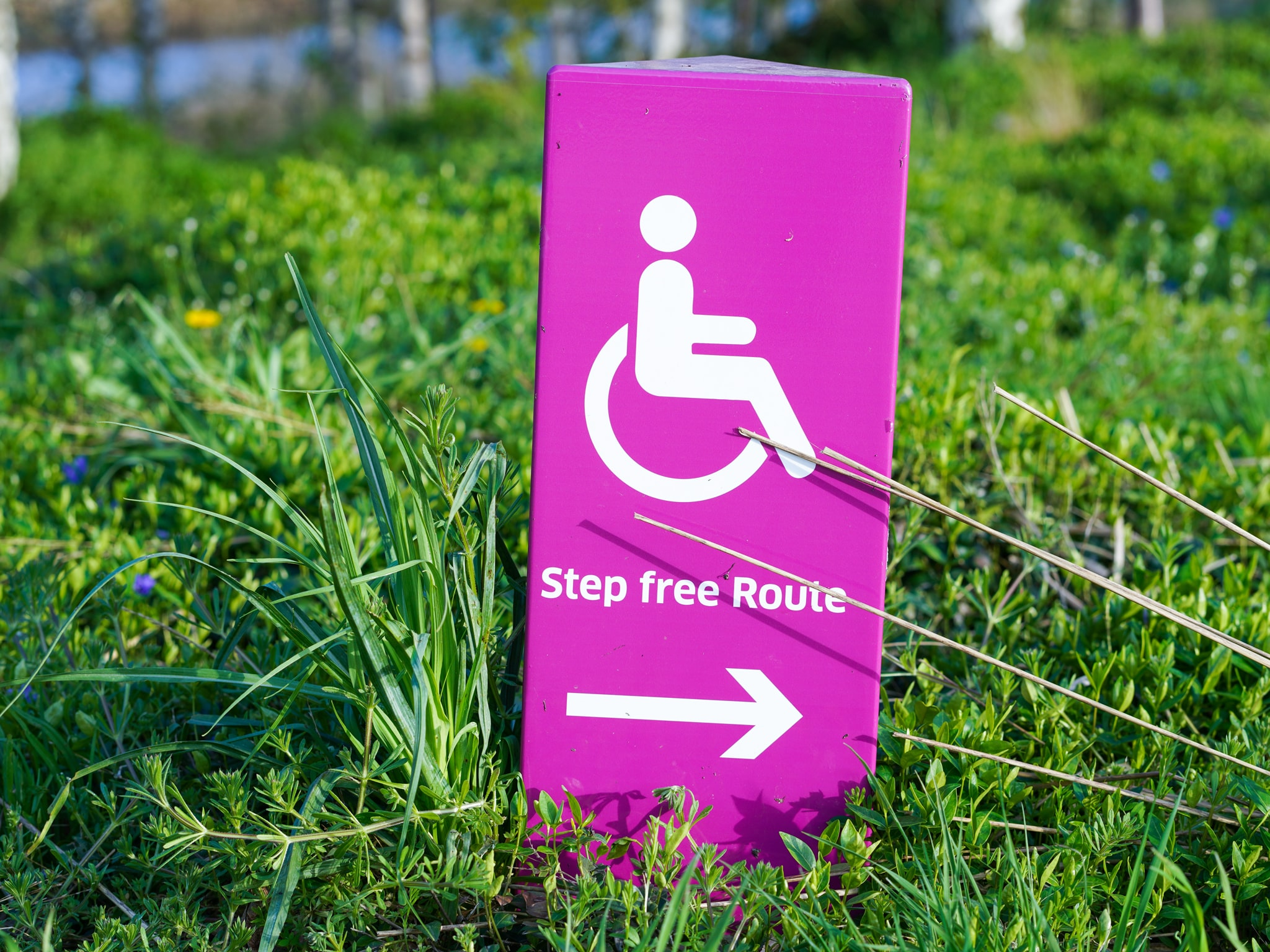 Step free route sign